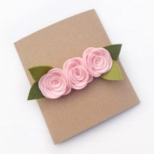 Other - Light Pink Felt Flower Headband 🌸🌸🌸